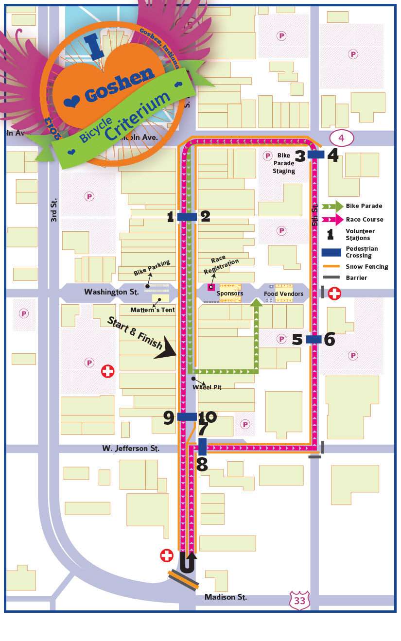 Criterium Races and Bike Festival - Crit Map