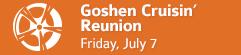 Goshen Cruisin' Reunion • July First Fridays • Goshen, Indiana