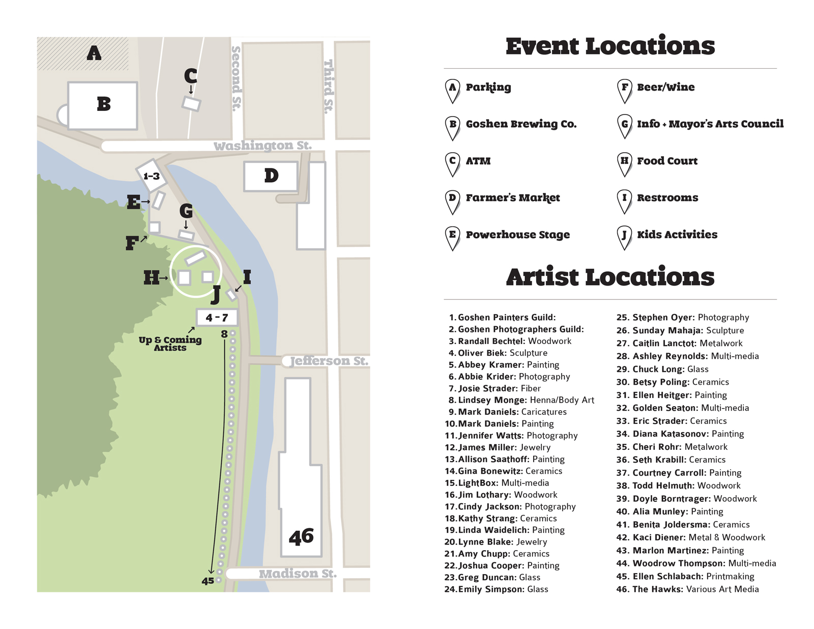 Map Of Downtown Goshen In Images Diagram Writing Sample